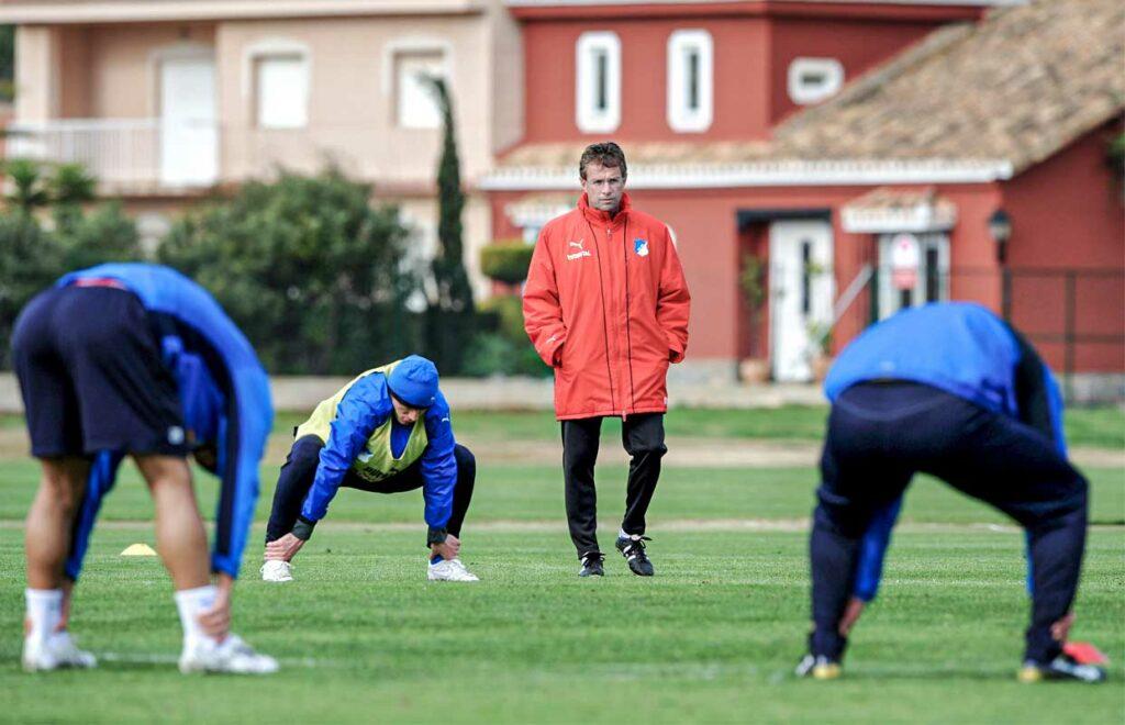 Ralf Rangnick en su paso como entrenador del TSV Hoffenheim. Getty Images